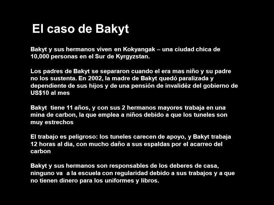 El caso de Bakyt Bakyt y sus hermanos viven en Kokyangak – una ciudad chica de 10,000 personas en el Sur de Kyrgyzstan.