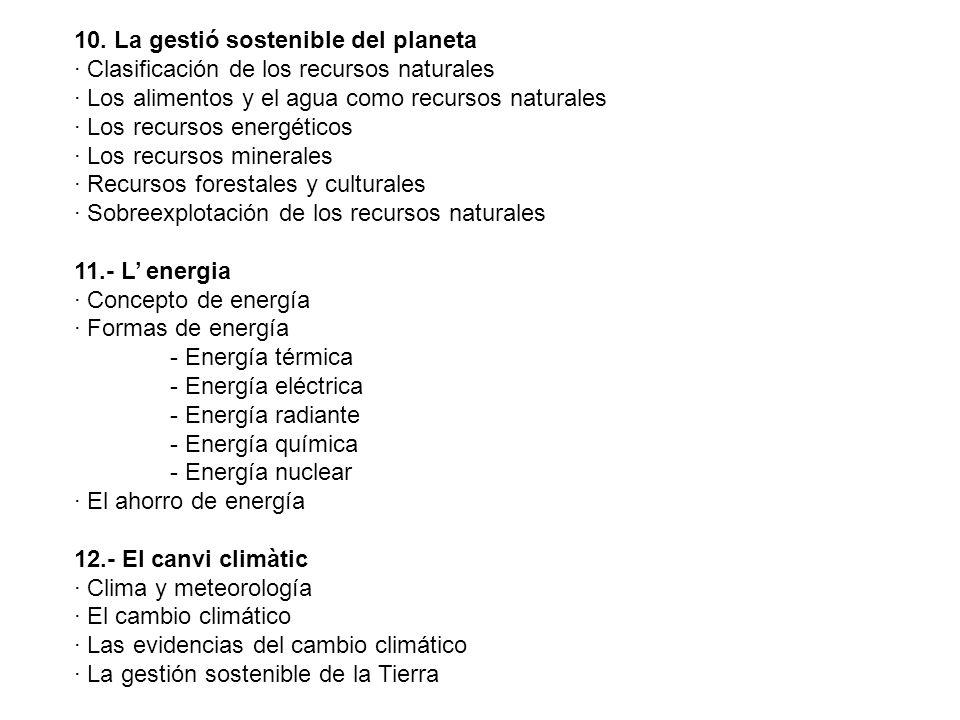 10. La gestió sostenible del planeta