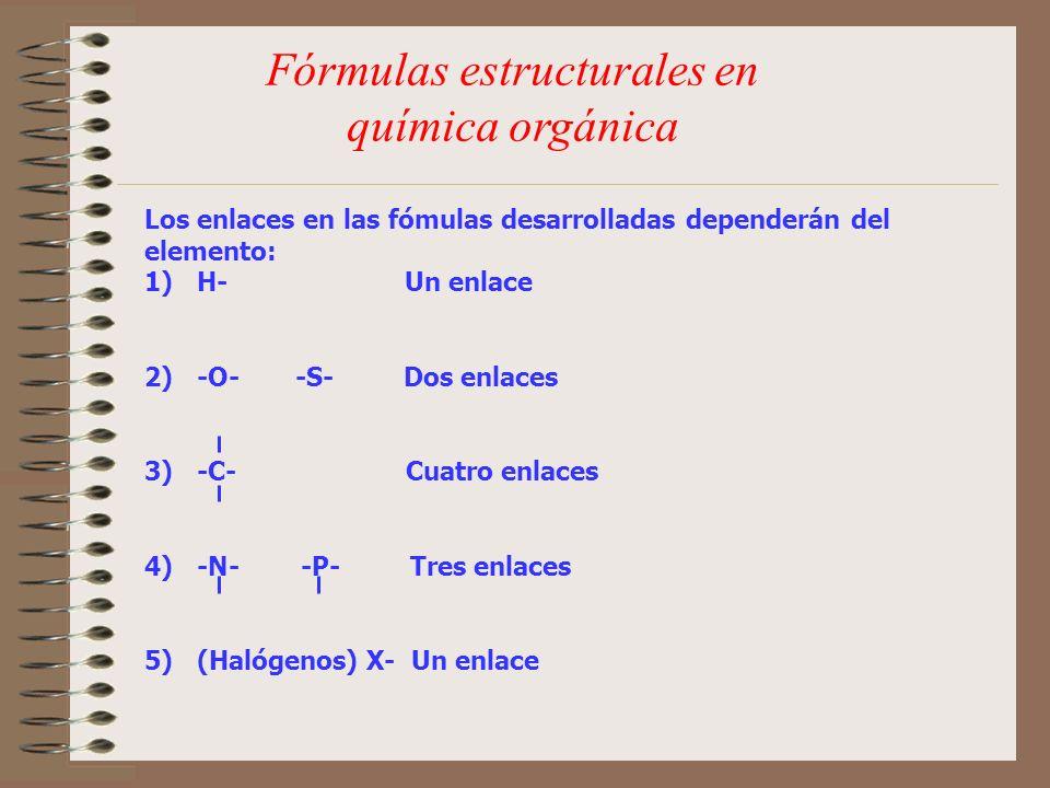 Fórmulas estructurales en química orgánica