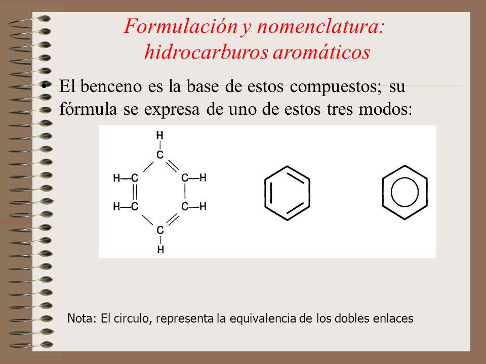 Formulación y nomenclatura: hidrocarburos aromáticos