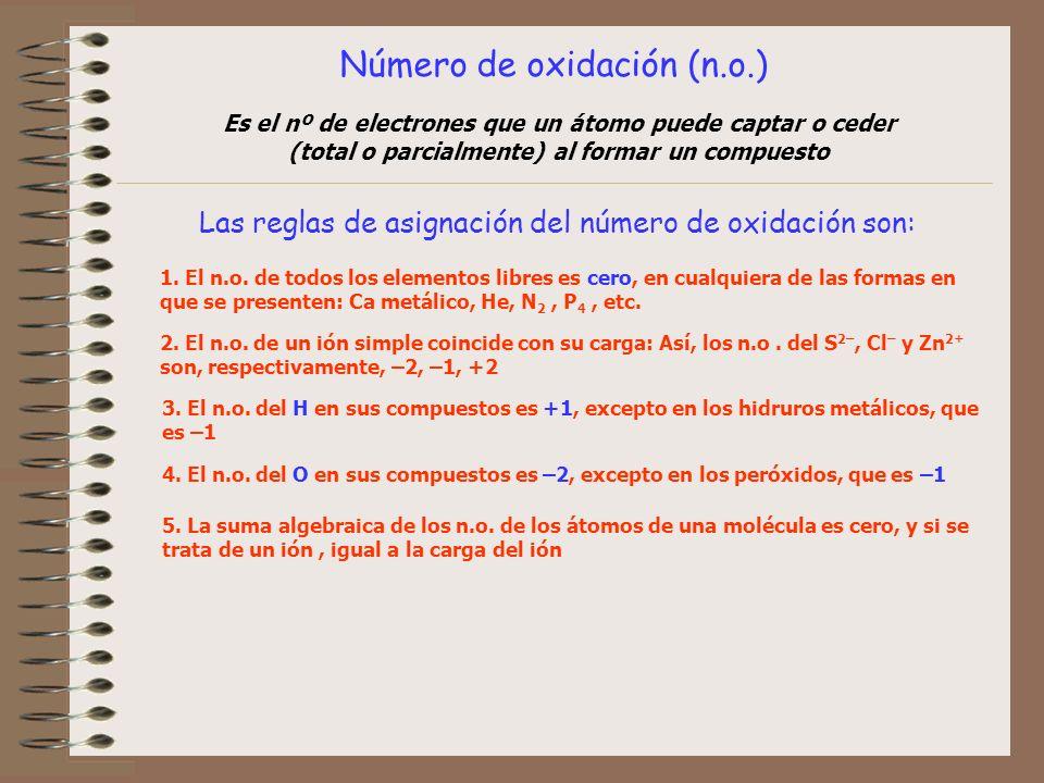 Número de oxidación (n.o.)