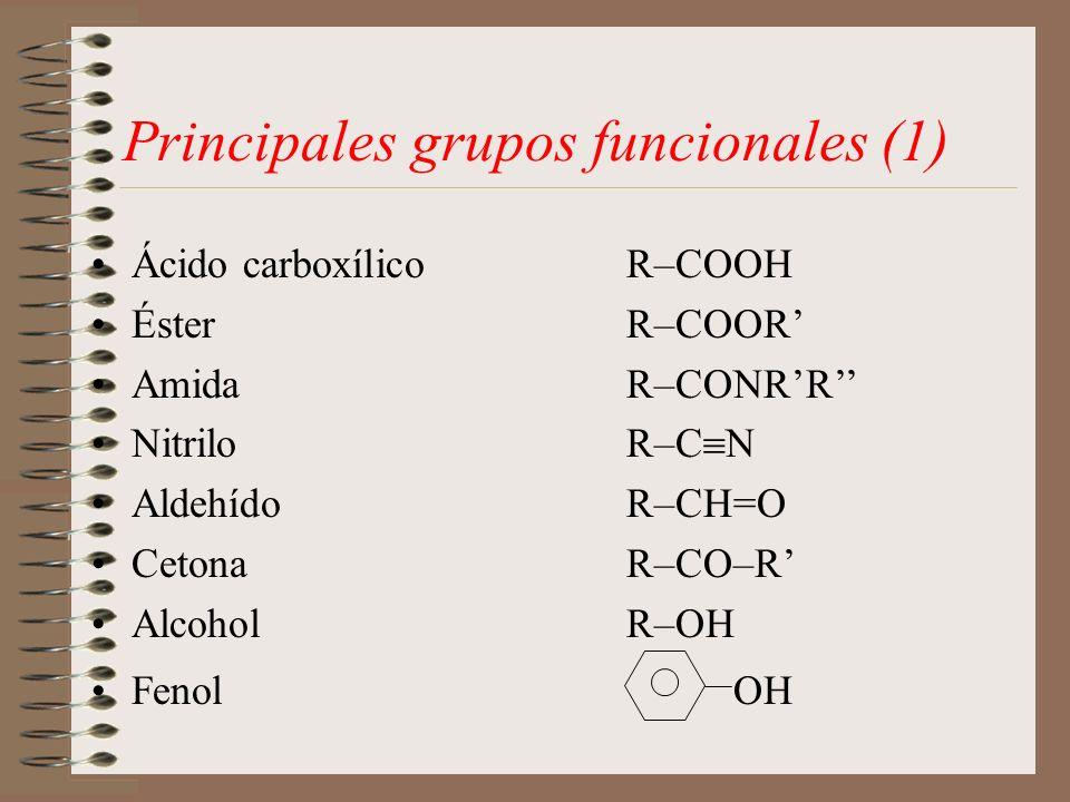Principales grupos funcionales (1)