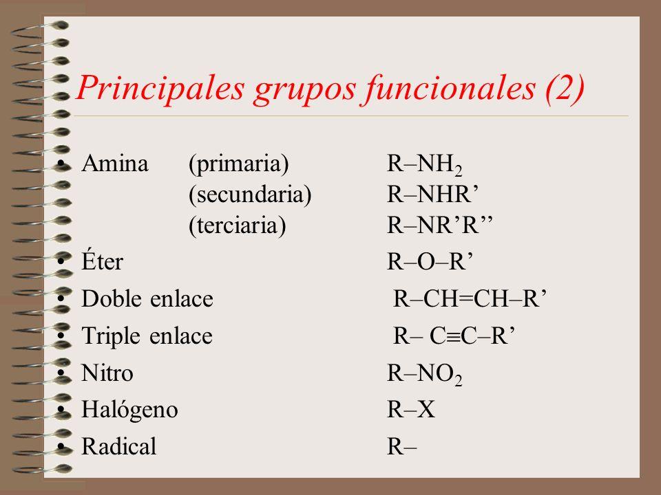 Principales grupos funcionales (2)