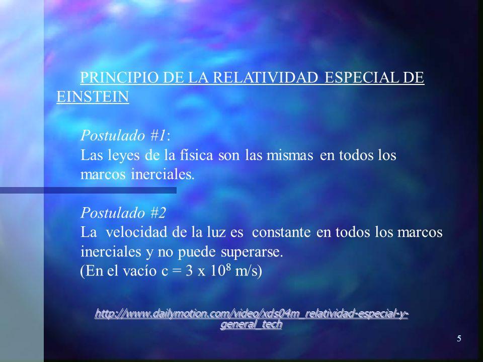 PRINCIPIO DE LA RELATIVIDAD ESPECIAL DE EINSTEIN