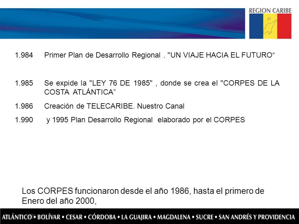 1.984 Primer Plan de Desarrollo Regional . UN VIAJE HACIA EL FUTURO