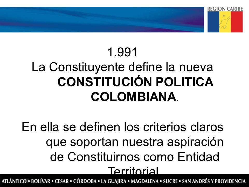 La Constituyente define la nueva CONSTITUCIÓN POLITICA COLOMBIANA.