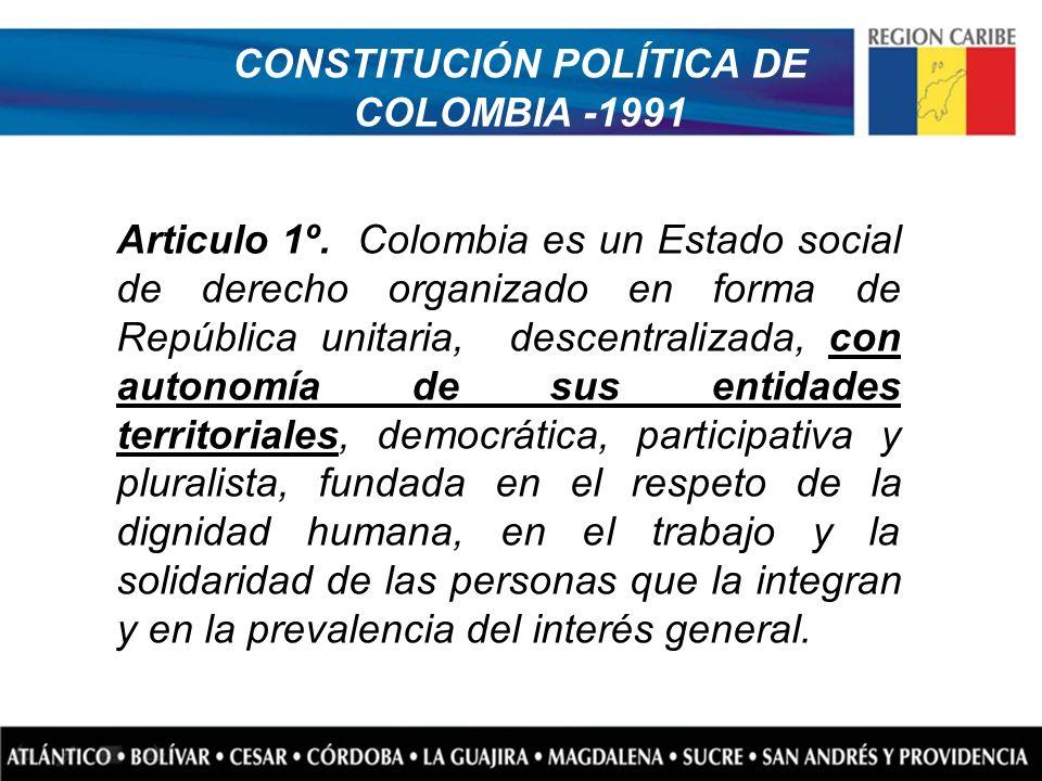 CONSTITUCIÓN POLÍTICA DE COLOMBIA -1991