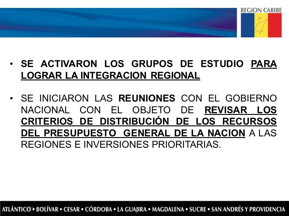 SE ACTIVARON LOS GRUPOS DE ESTUDIO PARA LOGRAR LA INTEGRACION REGIONAL