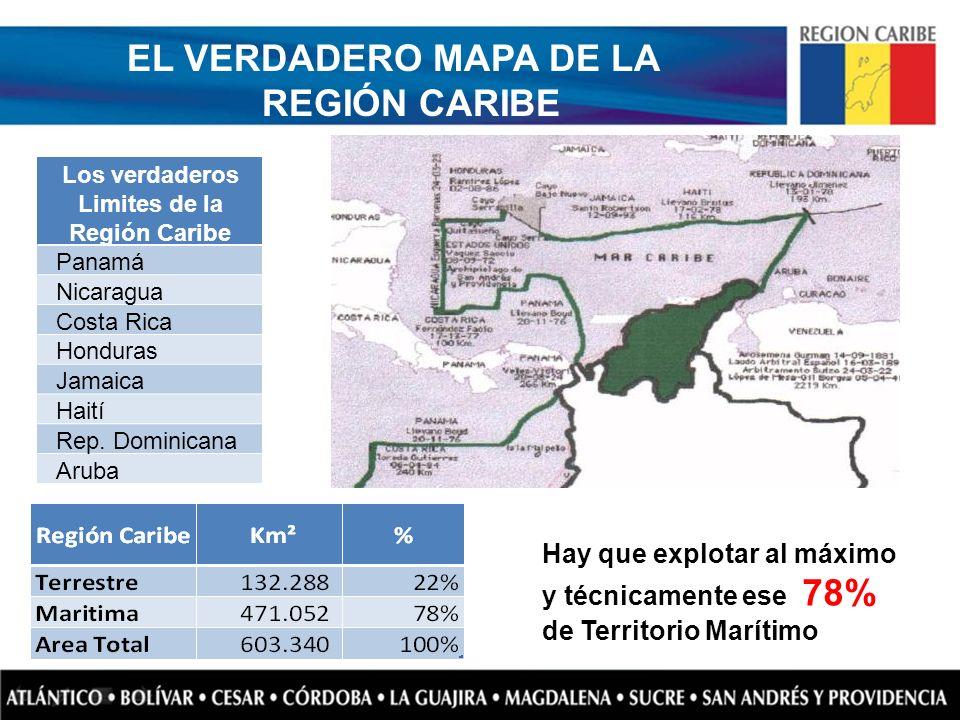 EL VERDADERO MAPA DE LA REGIÓN CARIBE