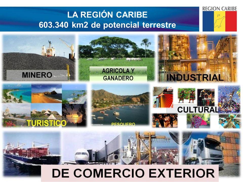 LA REGIÓN CARIBE 603.340 km2 de potencial terrestre