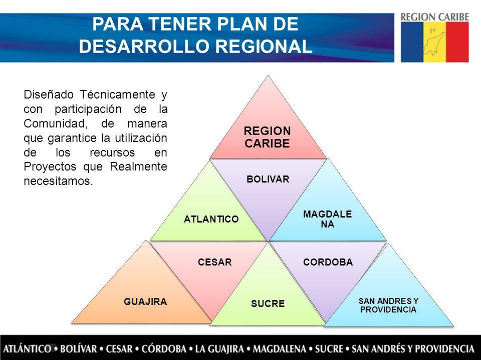 PARA TENER PLAN DE DESARROLLO REGIONAL