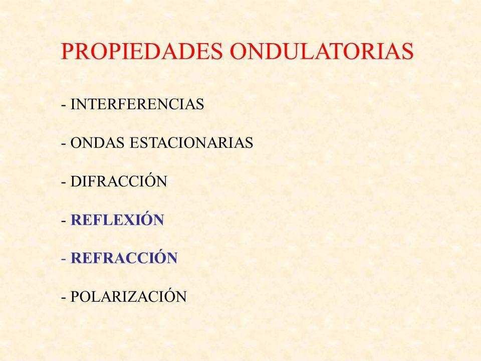 PROPIEDADES ONDULATORIAS