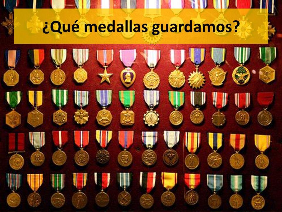 ¿Qué medallas guardamos