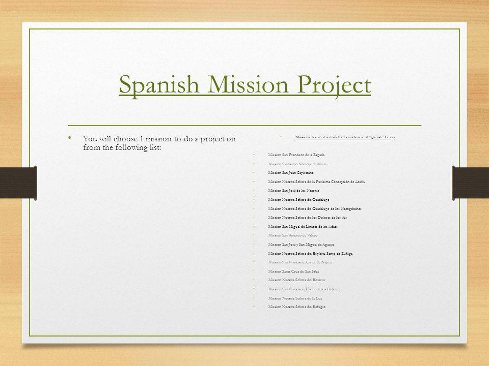 Spanish Mission Project