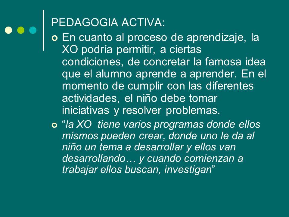 PEDAGOGIA ACTIVA: