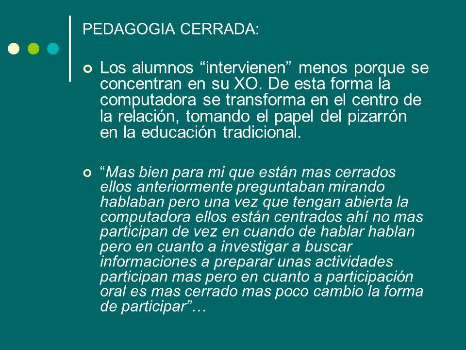 PEDAGOGIA CERRADA: