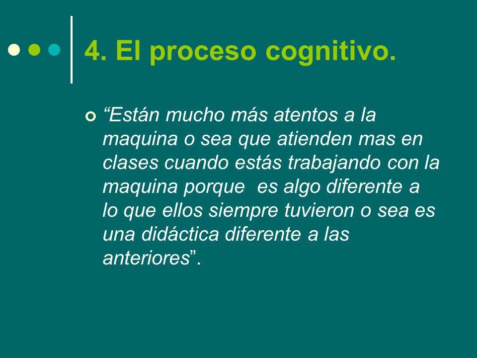 4. El proceso cognitivo.
