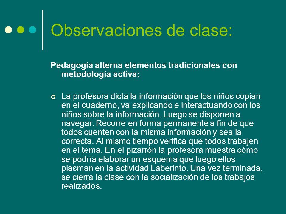 Observaciones de clase: