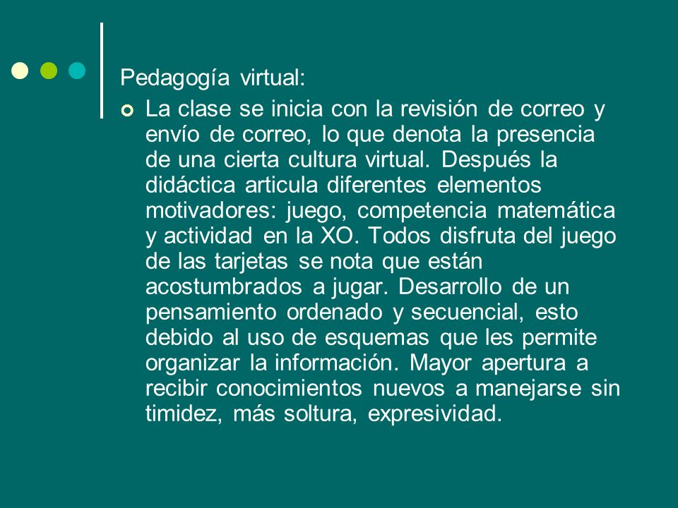 Pedagogía virtual: