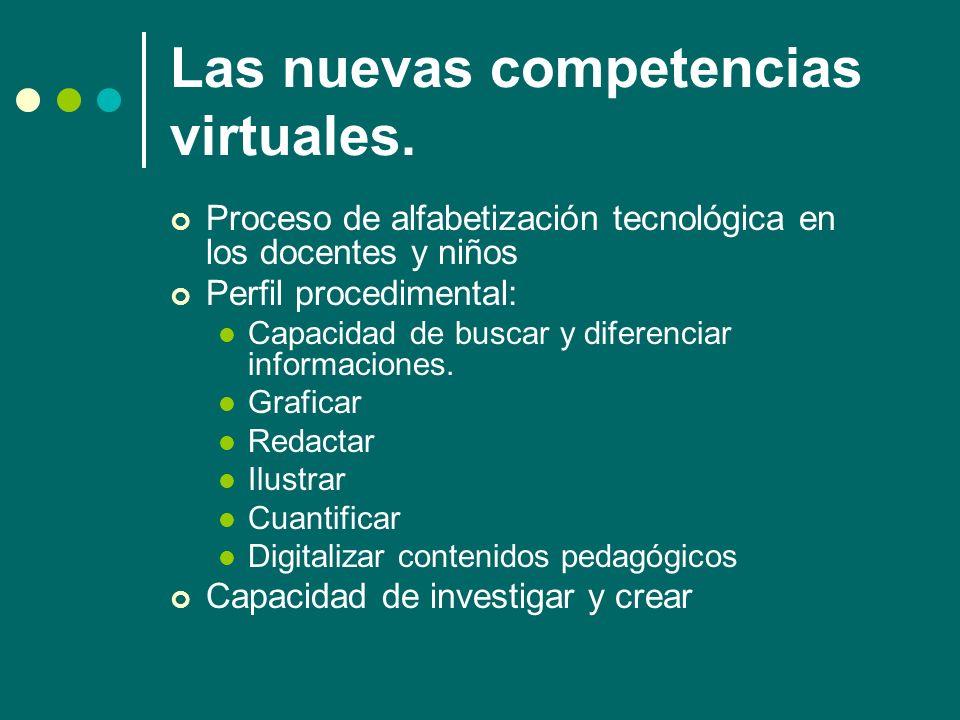 Las nuevas competencias virtuales.