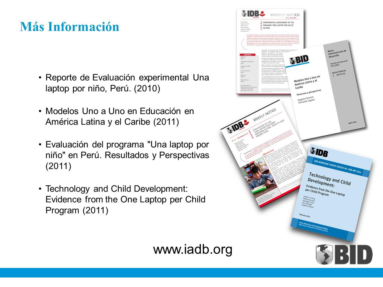 Más Información www.iadb.org