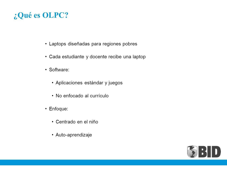 ¿Qué es OLPC Laptops diseñadas para regiones pobres