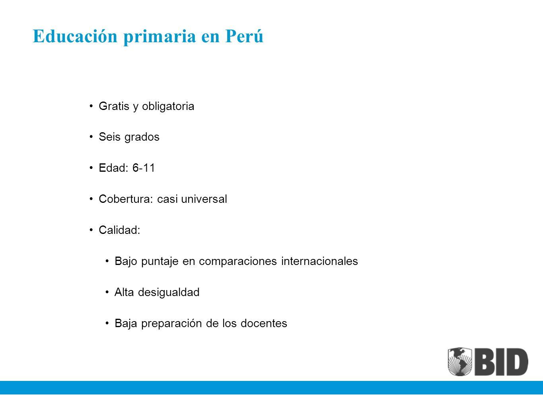 Educación primaria en Perú