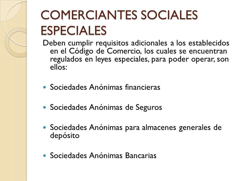COMERCIANTES SOCIALES ESPECIALES
