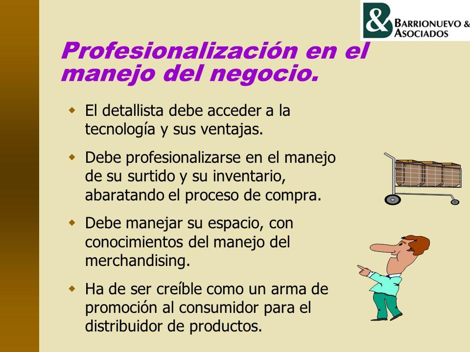 Profesionalización en el manejo del negocio.