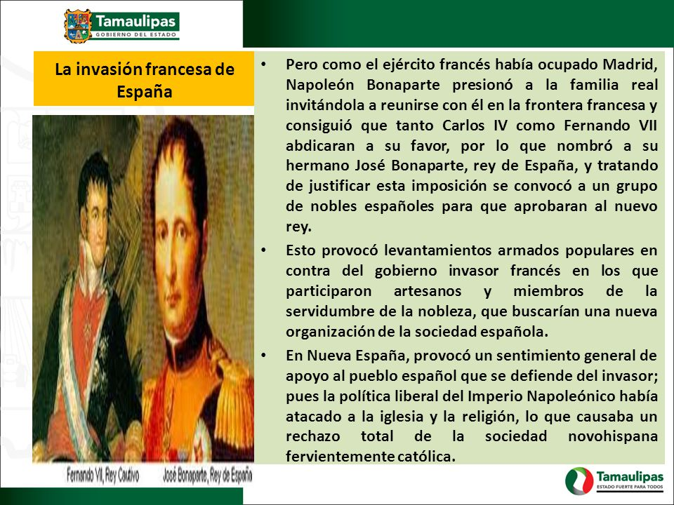 La invasión francesa de España