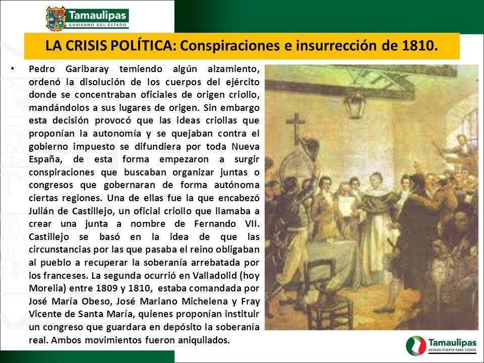 LA CRISIS POLÍTICA: Conspiraciones e insurrección de 1810.