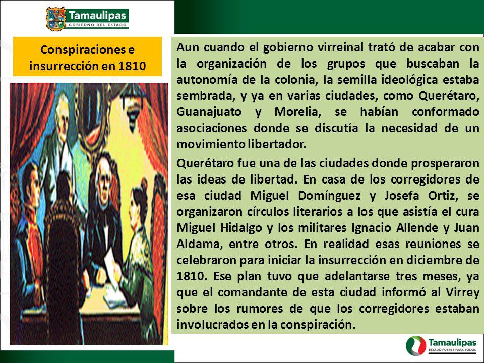 Conspiraciones e insurrección en 1810
