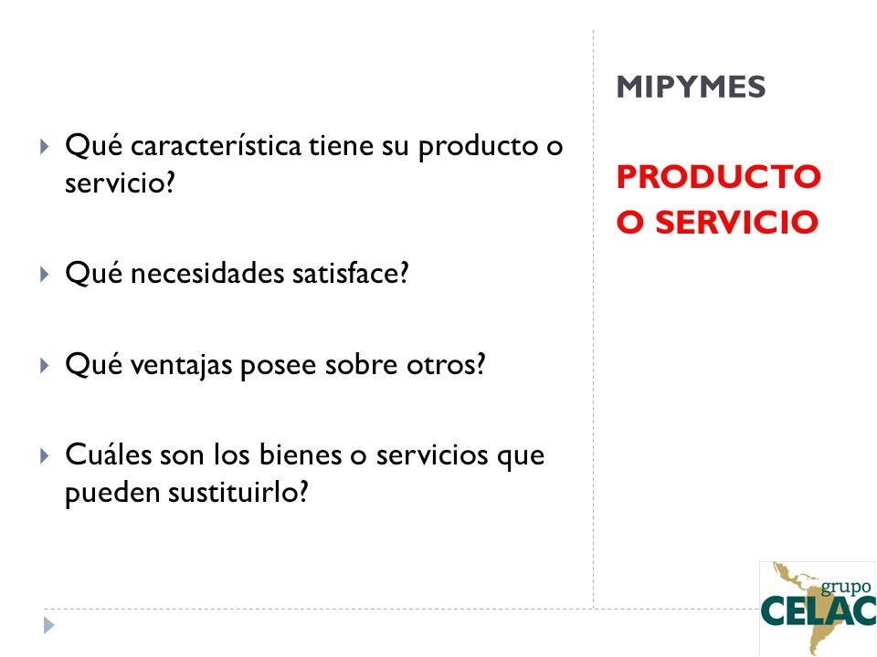 PRODUCTO O SERVICIO MIPYMES
