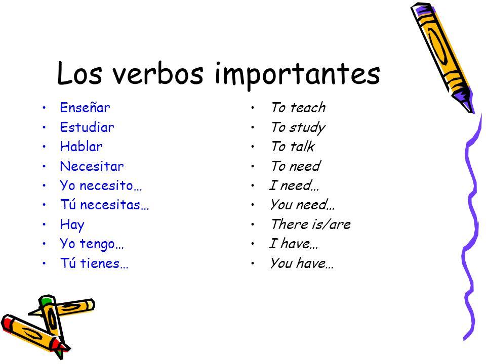 Los verbos importantes
