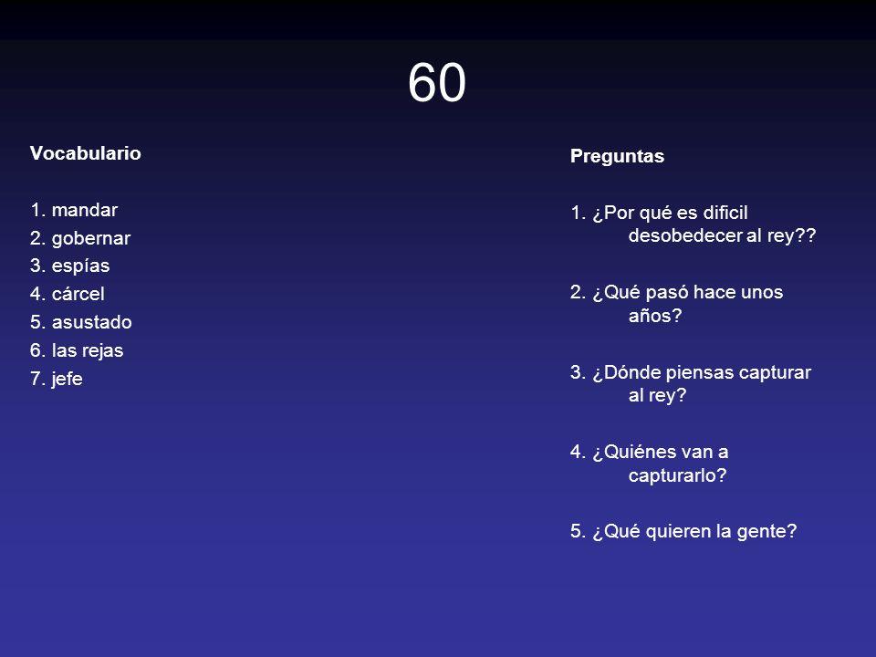 60 Vocabulario Preguntas 1. mandar