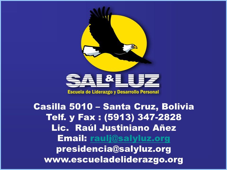 Casilla 5010 – Santa Cruz, Bolivia Telf. y Fax : (5913) 347-2828