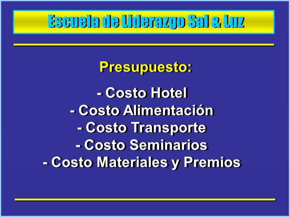 Escuela de Liderazgo Sal & Luz