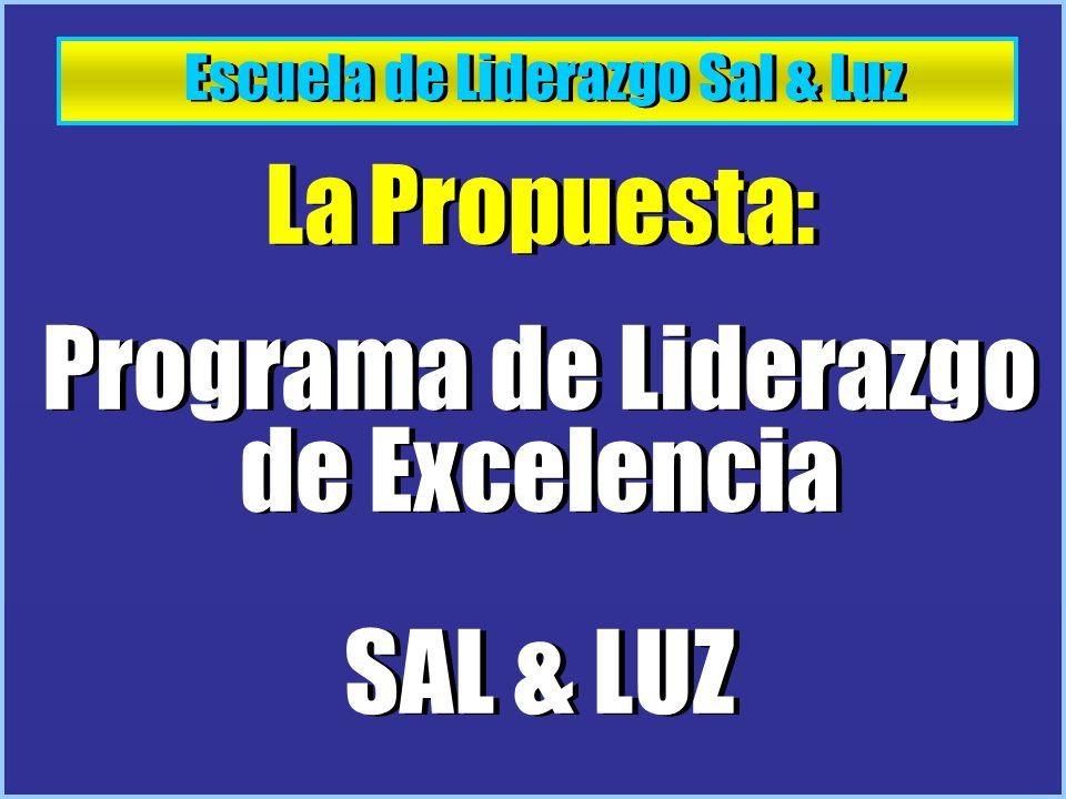 Programa de Liderazgo de Excelencia SAL & LUZ