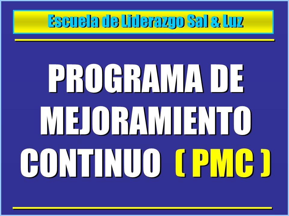 PROGRAMA DE MEJORAMIENTO CONTINUO ( PMC )