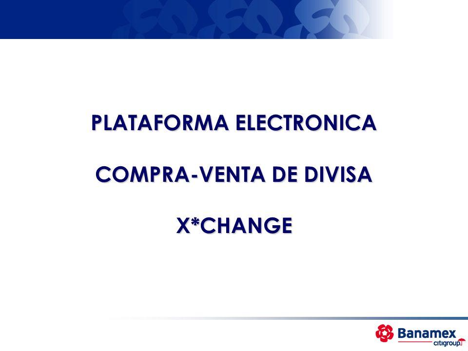PLATAFORMA ELECTRONICA COMPRA-VENTA DE DIVISA