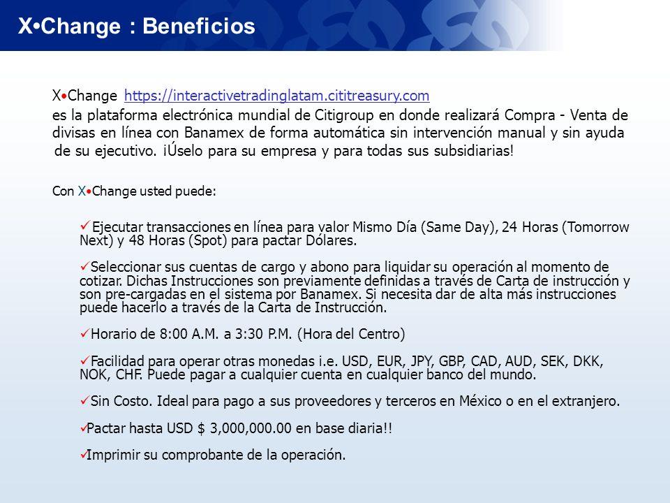 X•Change : BeneficiosX•Change https://interactivetradinglatam.cititreasury.com.