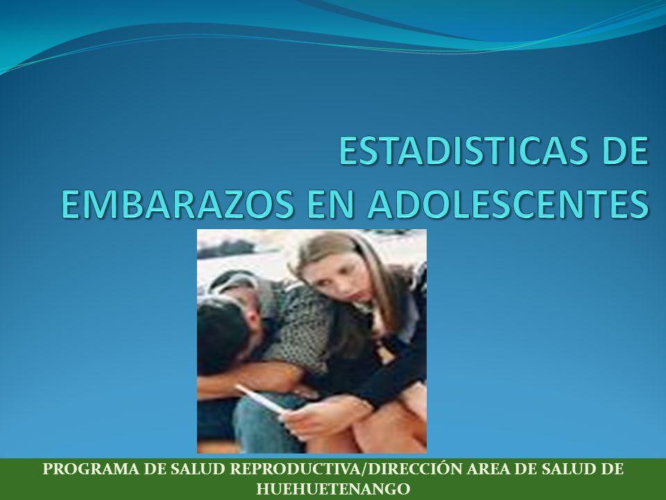 ESTADISTICAS DE EMBARAZOS EN ADOLESCENTES