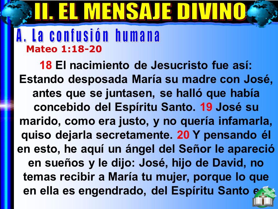 El Mensaje Divino A II. EL MENSAJE DIVINO