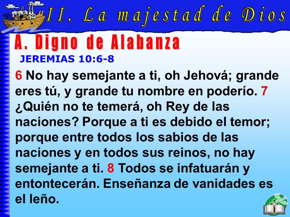 La Majestad De Dios A II. La majestad de Dios