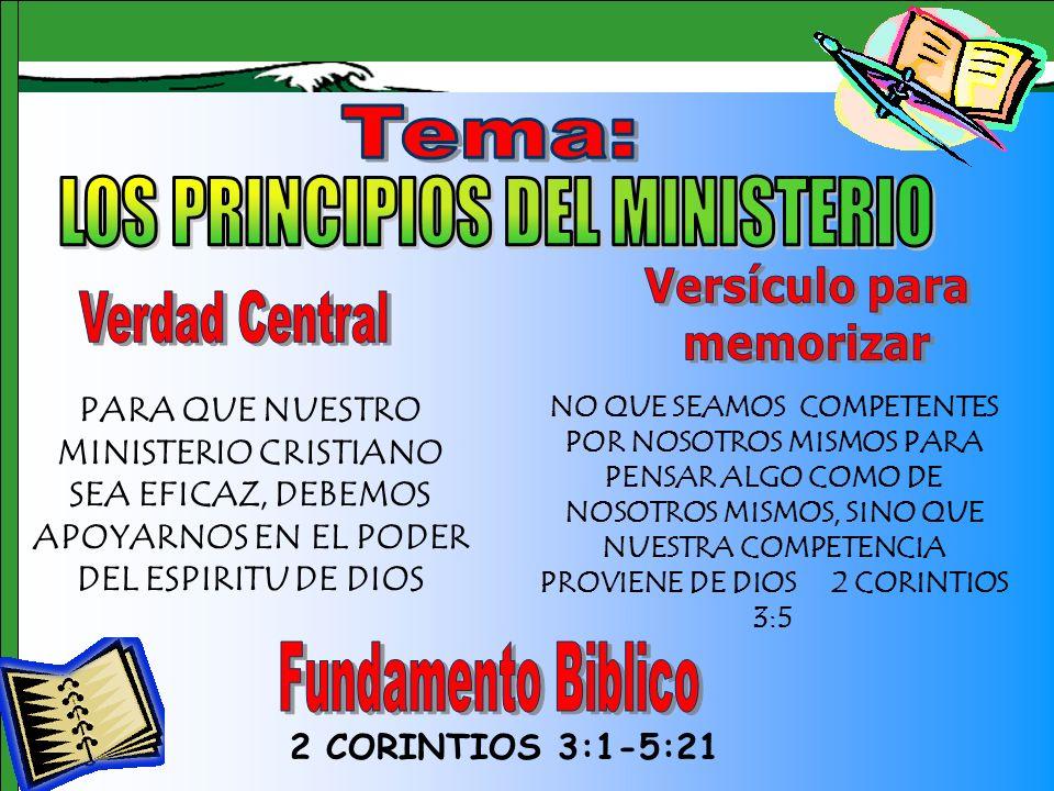 LOS PRINCIPIOS DEL MINISTERIO