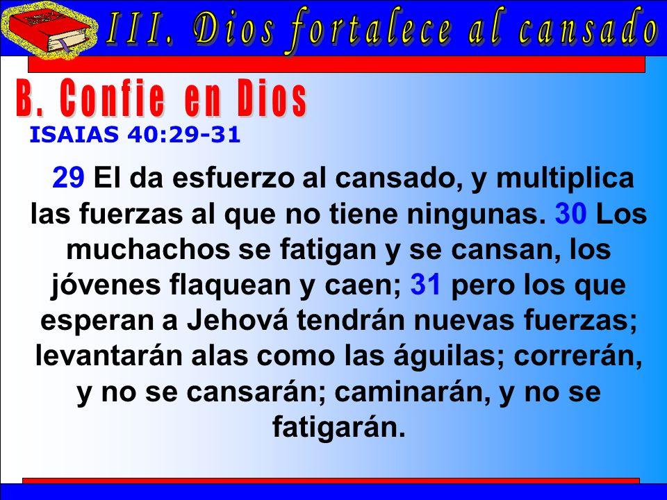 Dios Fortalece Al Cansado B