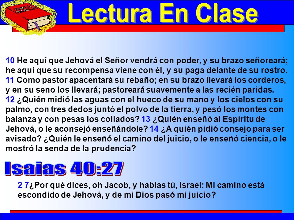 Lectura En Clase 2 Lectura En Clase Isaias 40:27