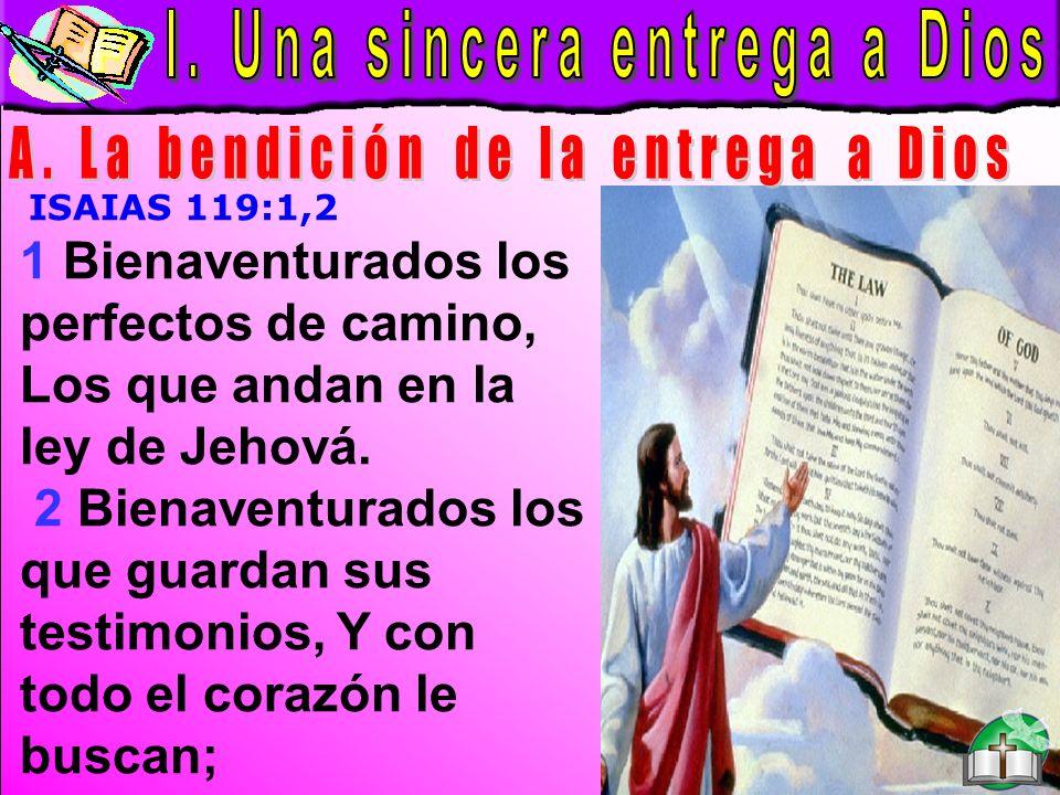 Sincera entrega a Dios A