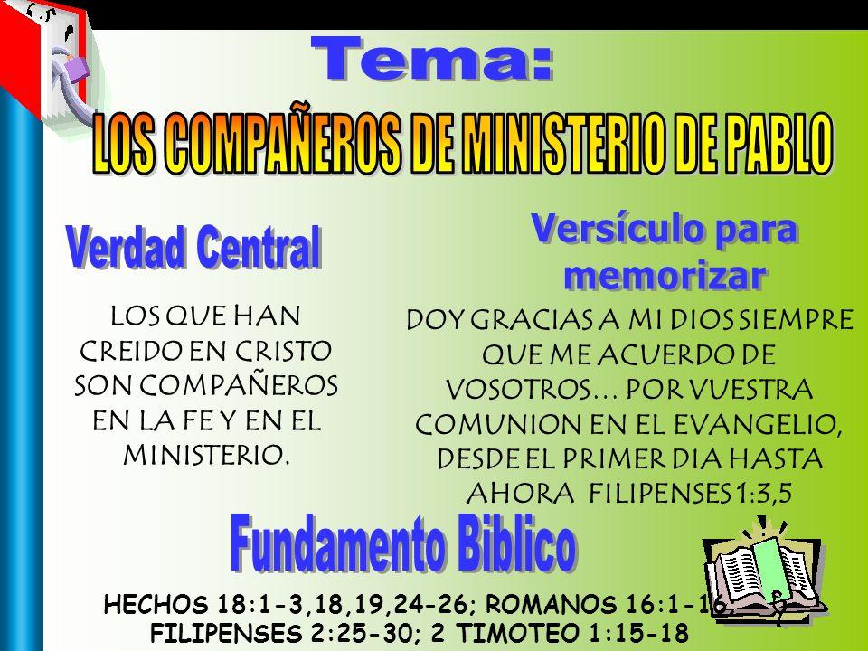 LOS COMPAÑEROS DE MINISTERIO DE PABLO
