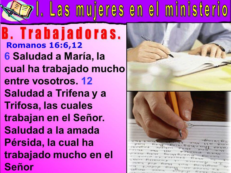 Las Mujeres En El Ministerio B